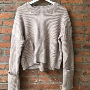 Allsaints Pink and Cream Sweater